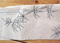 ひょうたん墨で描かれた下絵のひとつ