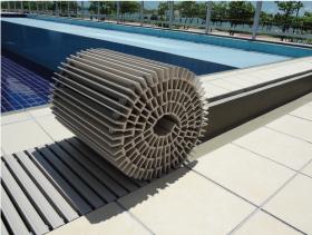 プール用樹脂グレーチング施工写真5